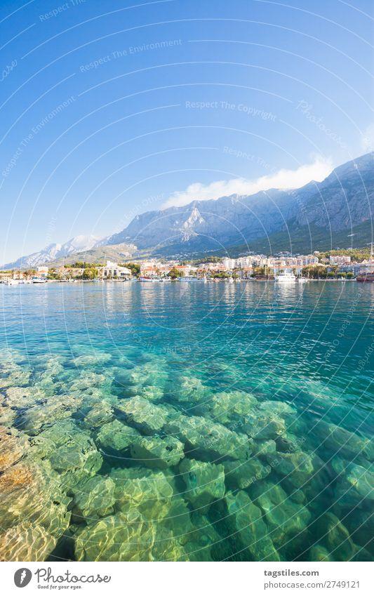 MAKARSKA, DALMATIA, CROATIA Adriatic Sea Bay Beach Blue Town Coast Croatia Dalmatia Dreamily Fishing village Harbour Idyll Landscape Makarska Mediterranean sea