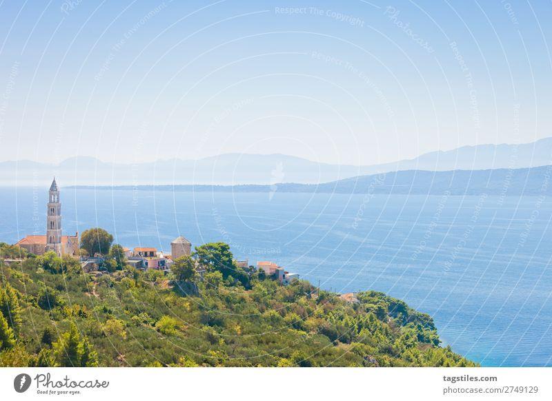IGRANE, CROATIA Adriatic Sea Architecture Bay Beach Religion and faith Church Town Coast Croatia Dalmatia Fishing village Harbour Horizon Idyll igranes Island