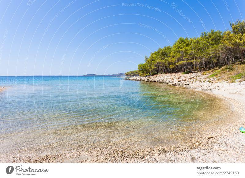 PINE BEACH, PAKOSTANE, CROATIA Adriatic Sea Swimming & Bathing Bay Beach Calm Camping Cloudless sky Coast Croatia Gorgeous Infinity Gravel Sand