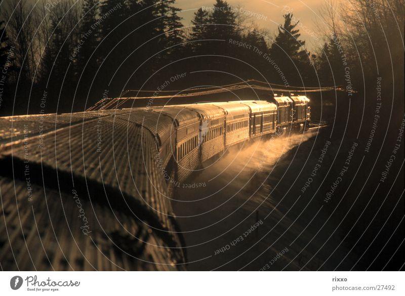 Winter Snow Transport Railroad Canada Rocky Mountains