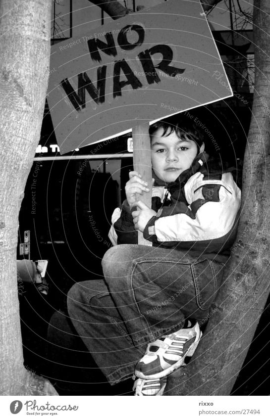 """No War"" Protest Demonstration Canada Peace Child USA bush"