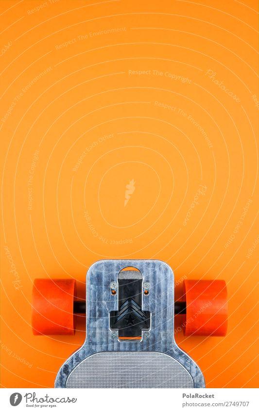 #S# Longboard orange Lifestyle Skateboard Surfing Asphalt Orange Metal Exceptional Cool (slang) Roll Axle To enjoy Leisure and hobbies Inline skating Speed