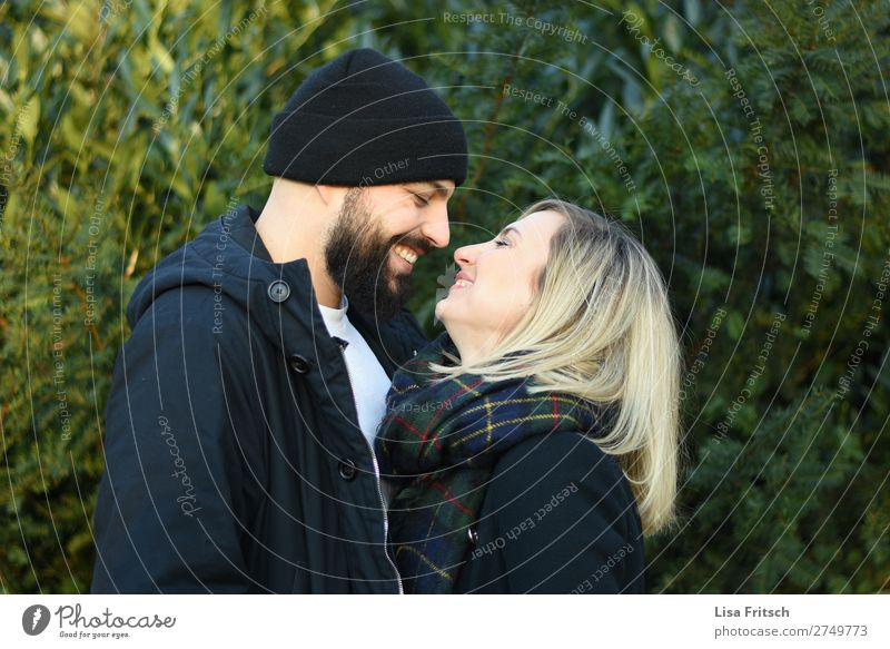 Woman Human being Youth (Young adults) Man Plant 18 - 30 years Adults Love Happy Couple Together Contentment Blonde Smiling Joie de vivre (Vitality) To enjoy