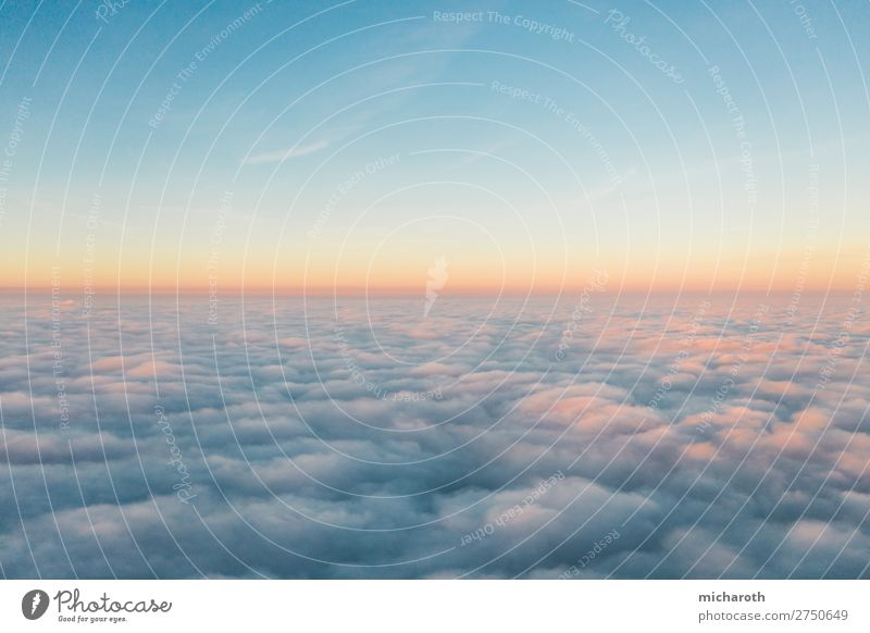 Above the clouds I Adventure Freedom Environment Sky Clouds Sunrise Sunset Climate Climate change Weather Beautiful weather Fog Aviation Cockpit