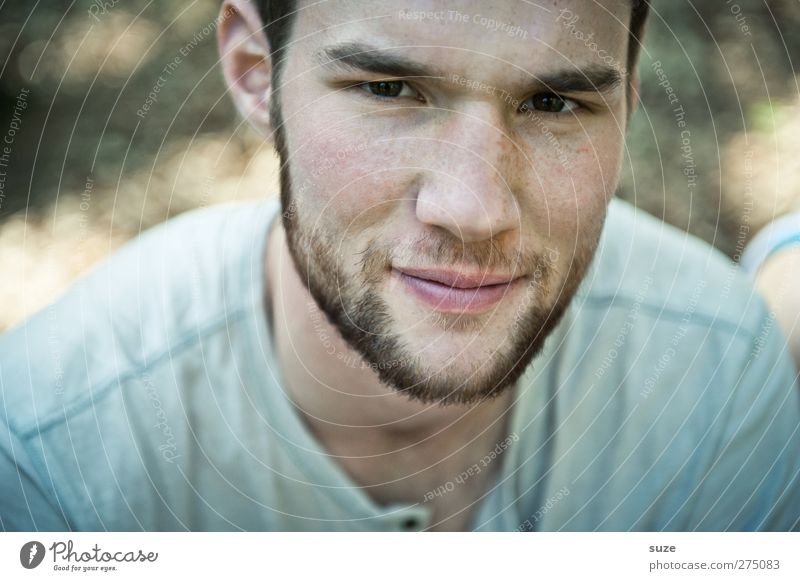 Human being Man Youth (Young adults) Beautiful Adults Face Style Young man Masculine Authentic Lifestyle Cool (slang) Model Facial hair Earnest