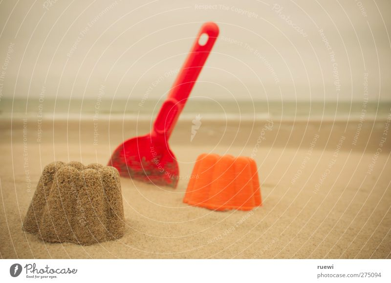 So much sand... and a mold! Relaxation Leisure and hobbies Playing Children's game Vacation & Travel Summer Summer vacation Beach Ocean Shovel moulds Infancy