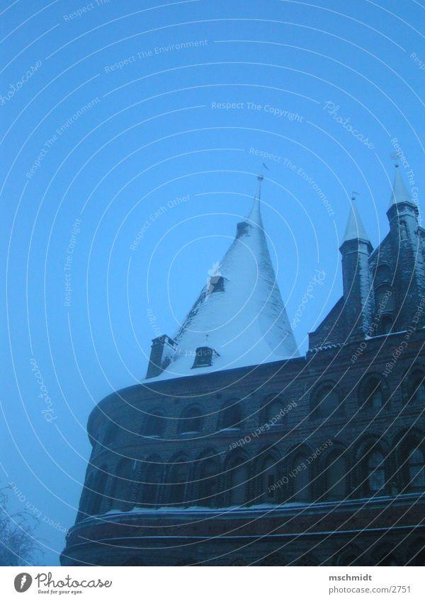 Lübeck Holstentor Fog Hanseatic League Winter Architecture holstentor Baltic Sea Snow