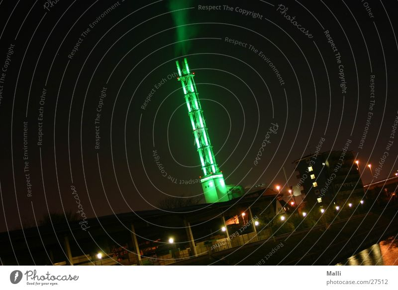 Green Architecture Electricity Industrial Photography Tower Harbour Smoke Steam Duisburg Public utilities