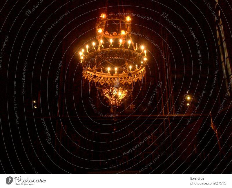 Dark Religion and faith Mysterious Exhibition Prague Chandelier Rarity