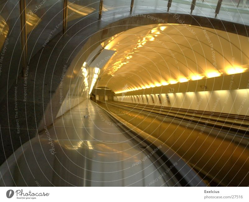 Far-off places Architecture Infinity Underground Prague Escalator