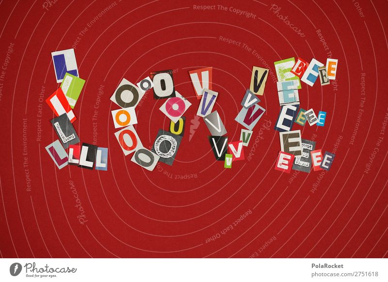 Red Love Art Design Esthetic Letters (alphabet) Many Lovers Typography Work of art Home-made Lovesickness Declaration of love Love letter Display of affection