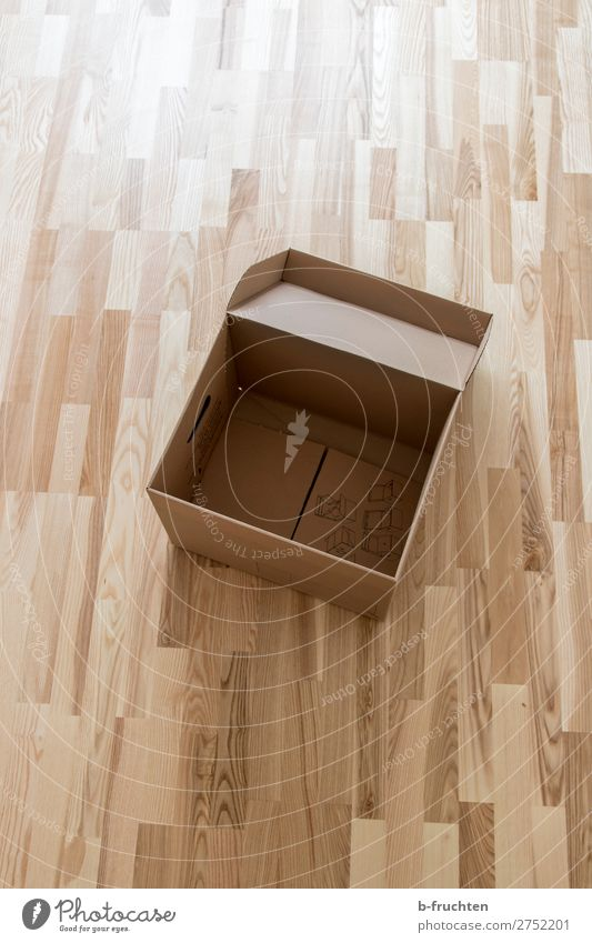 Empty carton Flat (apartment) Moving (to change residence) Arrange Select Utilize Cardboard Packing case Fill Ground Parquet floor Simple Modest Box Carton