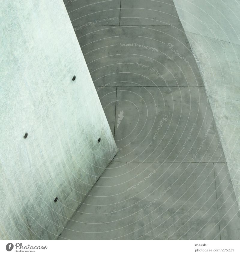 Wall (building) Architecture Gray Wall (barrier) Line Background picture Facade Concrete Corner Copy Space Section of image Geometry Paving tiles Concrete slab