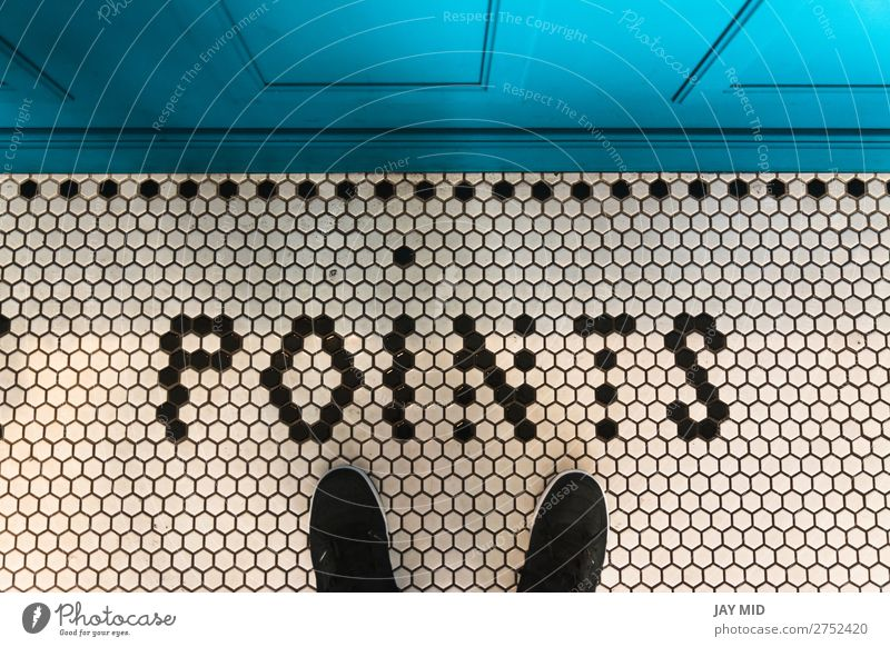 Feet selfie on art pattern tile floor black and white hexagonal Lifestyle Style Design Joy Vacation & Travel Decoration Human being Youth (Young adults) 1 Art