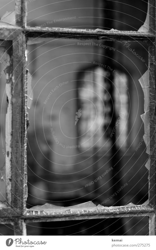 AST5 | Disk, been Window Slice Window pane Window frame border Shard Old Broken Destruction Derelict Decline smashed Black & white photo Exterior shot Close-up