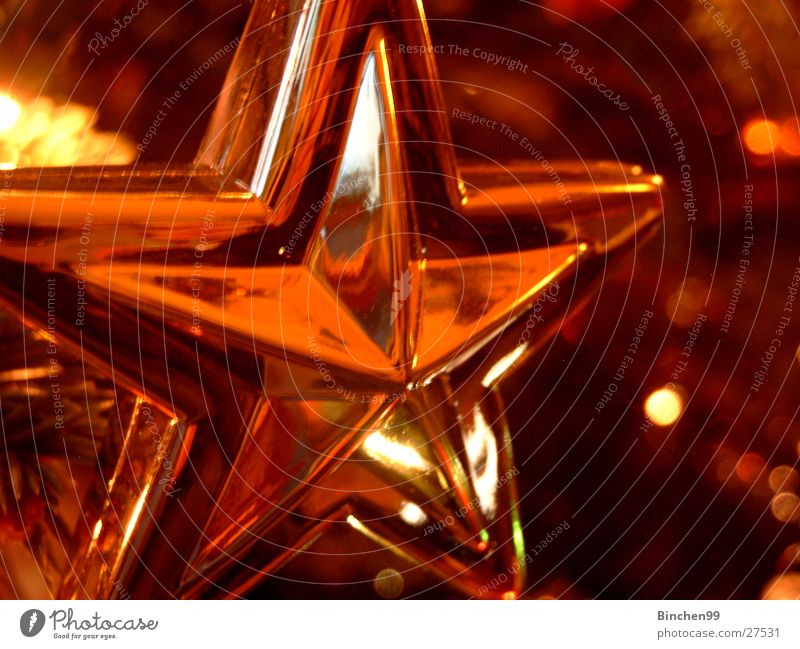 Christmas & Advent Gold Glittering Star (Symbol) Christmas decoration Festive