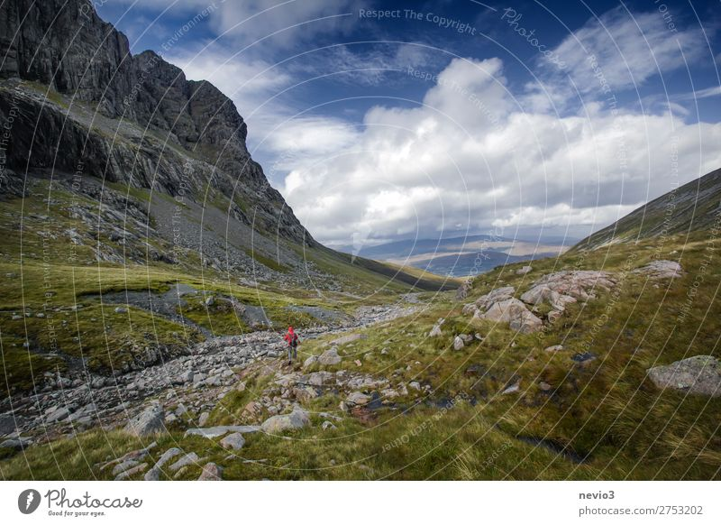 The Scottish Highlands Life Vacation & Travel Mountain Hiking Sports Nature Landscape Weather Beautiful weather Grass Field Free Natural Blue Green Europe