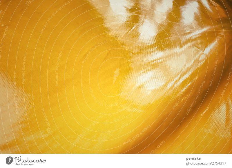 résistance jaune Plastic Flexible Endurance Unwavering Yellow Covers (Construction) Folds Reflection Colour photo Interior shot Close-up Detail