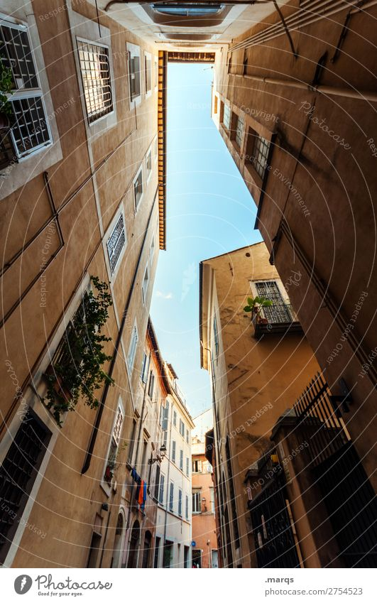 gas Vacation & Travel Tourism Summer Cloudless sky Beautiful weather Rome Italy Old town House (Residential Structure) Building Architecture Alley Historic