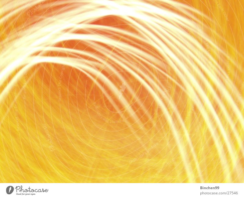 Yellow/Orange 3 Waves Background picture Thread Light Long exposure orange Line