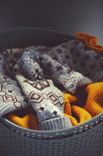 Aesthetics of dirty laundry Living or residing Flat (apartment) Bathroom Fashion Clothing Workwear Sweater Knit Cardigan Knitting pattern Esthetic Warmth Soft