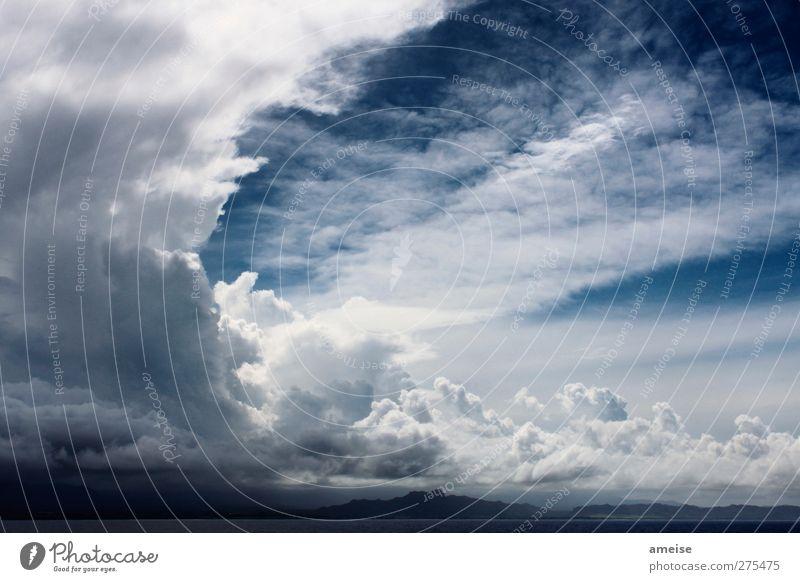 The sky over Kauai Summer vacation Ocean Island Air Sky Clouds Horizon Weather Wind Pacific Ocean Hawaii Happy Happiness Joie de vivre (Vitality) Calm Nature