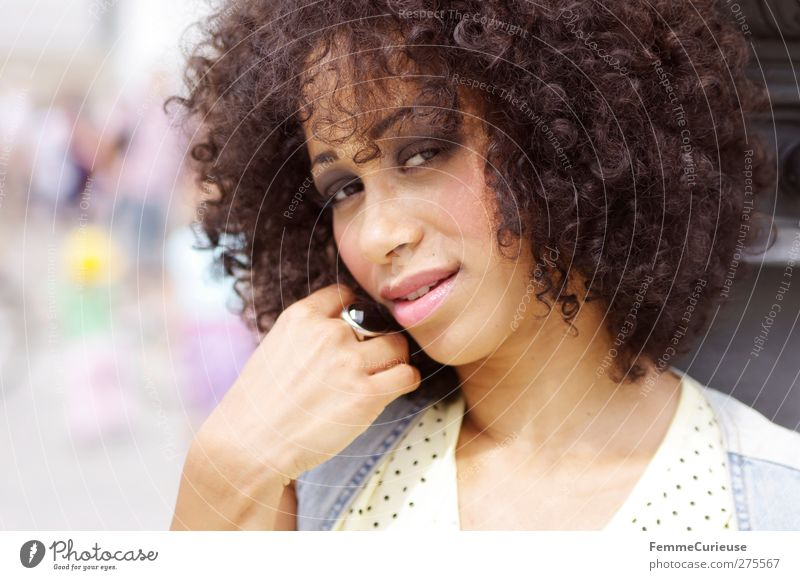 City girl. :) Lifestyle Style Beautiful Feminine Young woman Youth (Young adults) Woman Adults 1 Human being 18 - 30 years Leisure and hobbies African-American