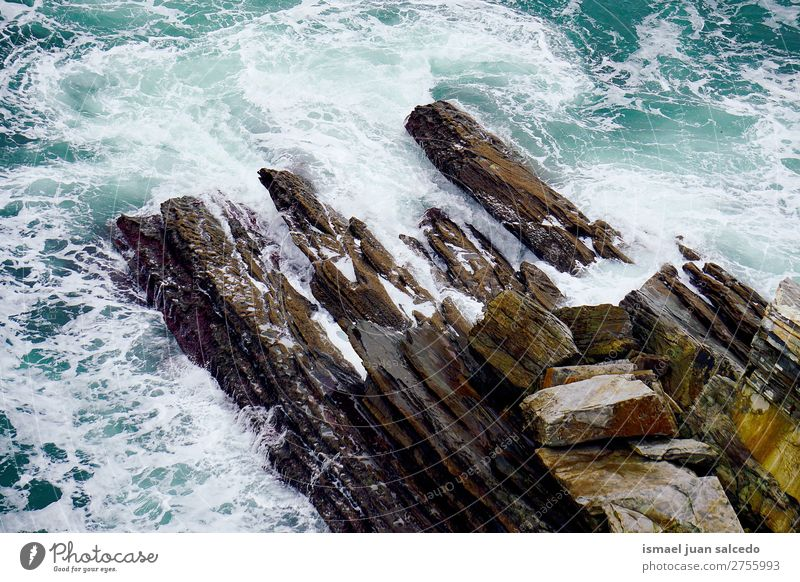 rocks in the sea Vacation & Travel Nature Landscape Ocean Relaxation Calm Coast Rock Waves Places Spain Serene Destination Bilbao