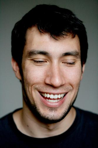 nicolas laughs his head off. Human being Masculine Young man Youth (Young adults) Face 1 18 - 30 years Adults Black-haired Designer stubble Laughter Love