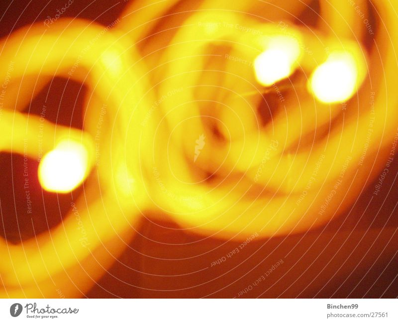 yellow circles Yellow Red Black White Background picture Round 3 Lamp Long exposure Circles course Point Orange