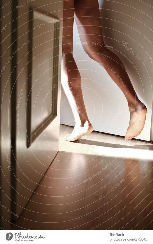 Achill - 2012 Human being Masculine Man Adults Legs Feet Walking Running Naked Colour photo Interior shot Copy Space bottom Light Shadow Sunlight Sunbeam