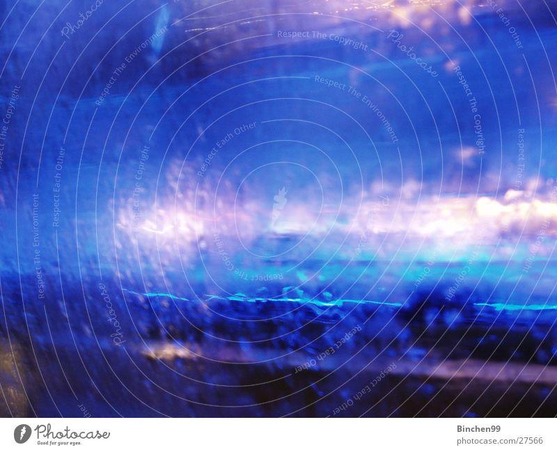 Blue White Drops of water Hotel Progress Across Joist Light Length