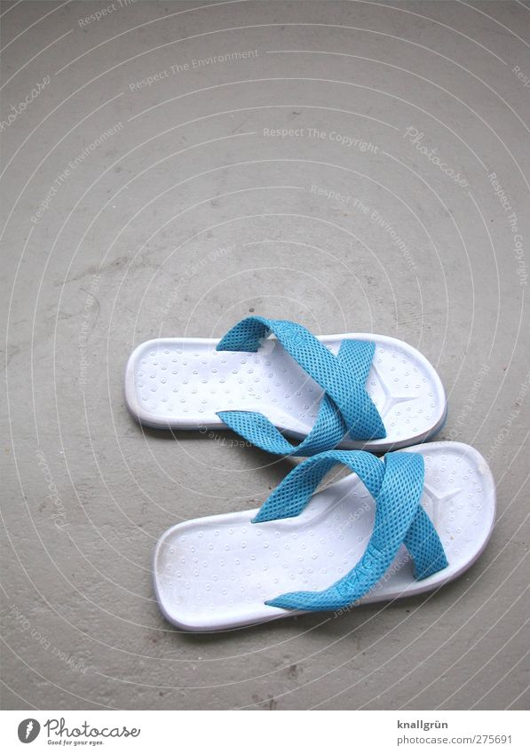 Blue Vacation & Travel White Joy Relaxation Gray Fashion Bright Footwear Leisure and hobbies Flip-flops Beach shoes