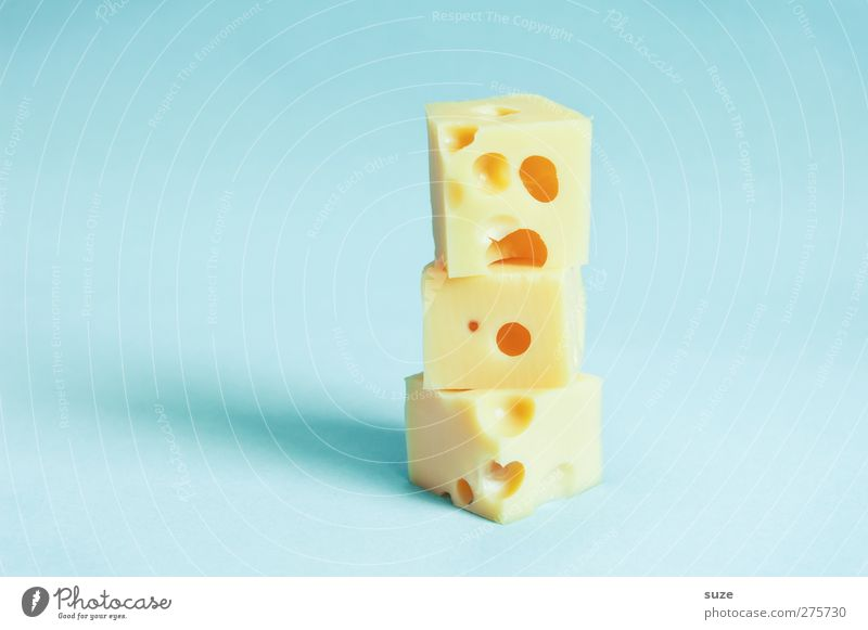 Sach ma cheese! Food Cheese Dairy Products Nutrition Organic produce Vegetarian diet Brash Delicious Funny Blue Yellow Idea Creativity cheese cubes Humor Stack