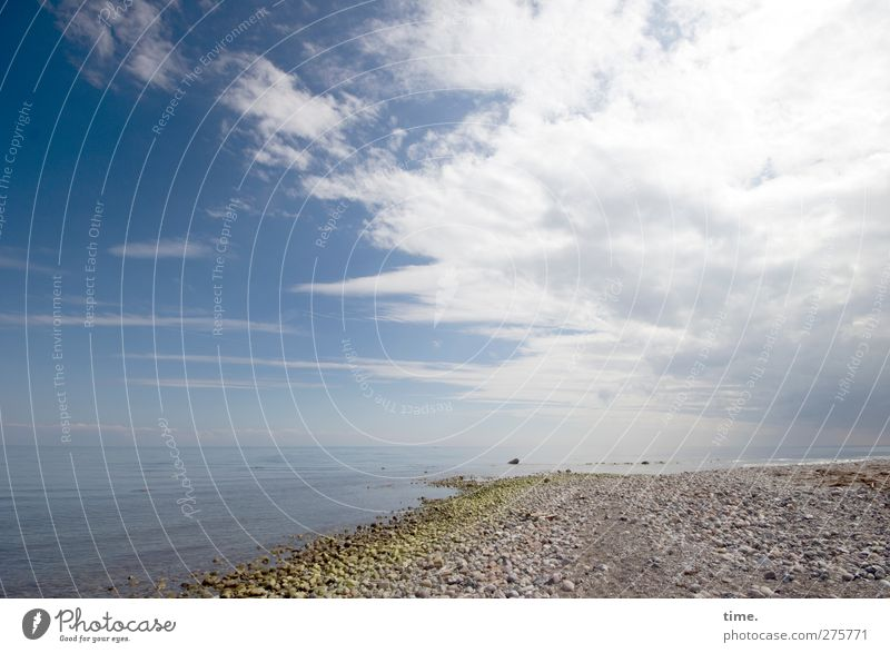 Hiddensee | Bricklayer Paradise (de luxe version) Environment Nature Landscape Earth Water Sky Clouds Horizon Beautiful weather Coast Beach Baltic Sea Stone