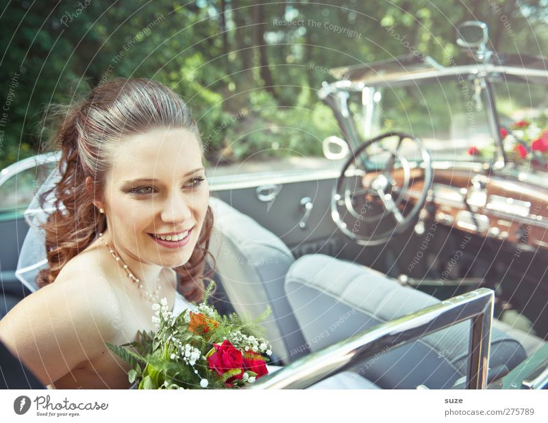 Human being Woman Nature Youth (Young adults) Summer Joy Adults Face Environment Feminine Hair and hairstyles Young woman Laughter Happy Head Car Window