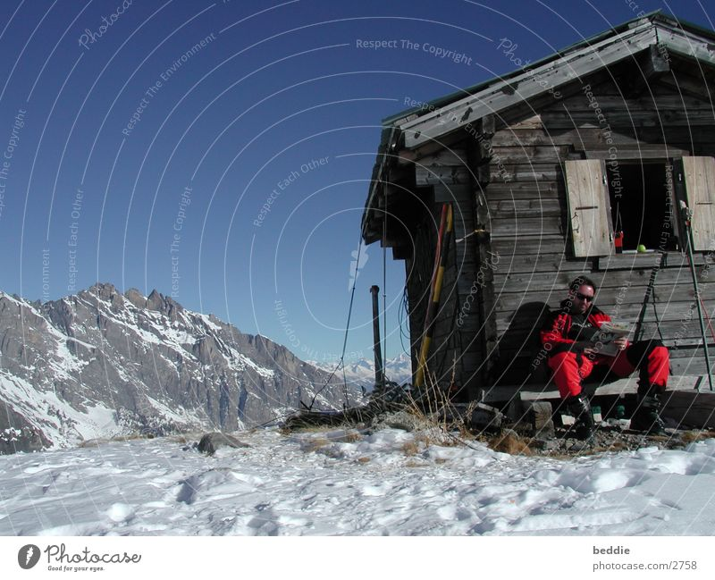 rest Switzerland Snow Skiing Hut