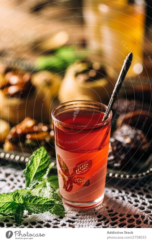 Red arabic tea Afternoon Arabia Aromatic Background picture Black Brown Culture Drinking East Exotic Food Glass Healthy Heat Hot Istanbul Lifestyle Mint