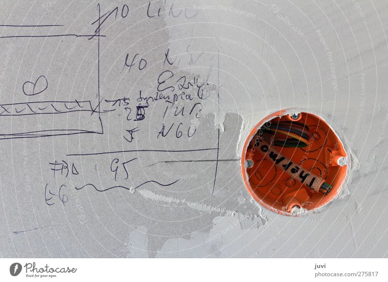site scribbling Cable Wall (barrier) Wall (building) Digits and numbers Gray Orange Planning Scribbles drywall electrical installation Conceptual design