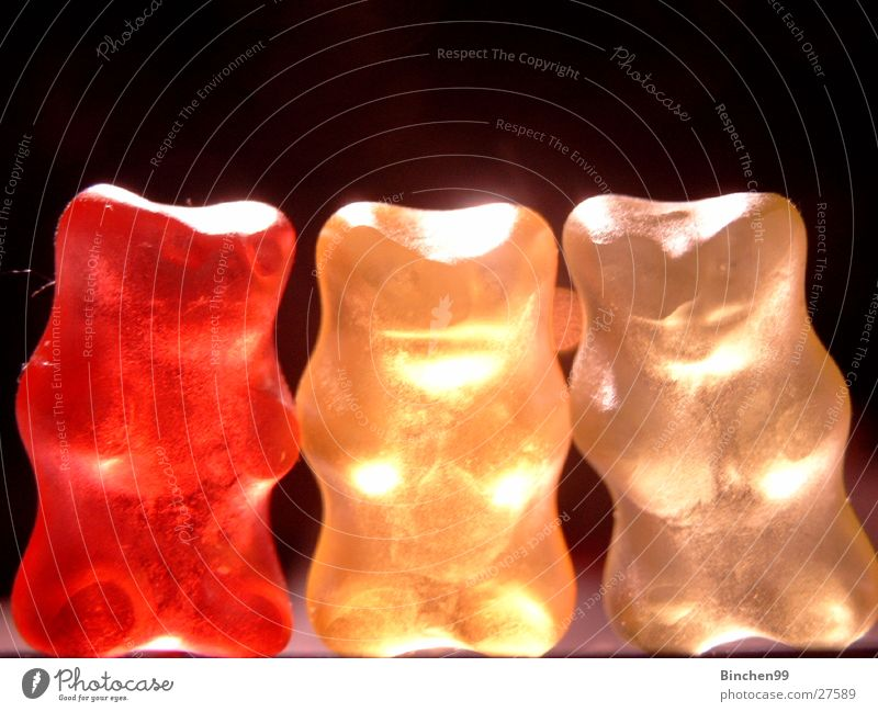 White Red Black Yellow 3 Candy Bear Gummy bears