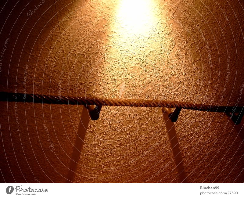 enlightenment To hold on Light Wall (building) Photographic technology Rope Shadow