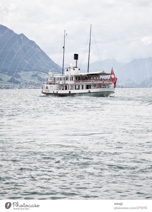 swissness² Environment Nature Water Sky Autumn Waves Lake Means of transport Traffic infrastructure Passenger traffic Public transit Navigation