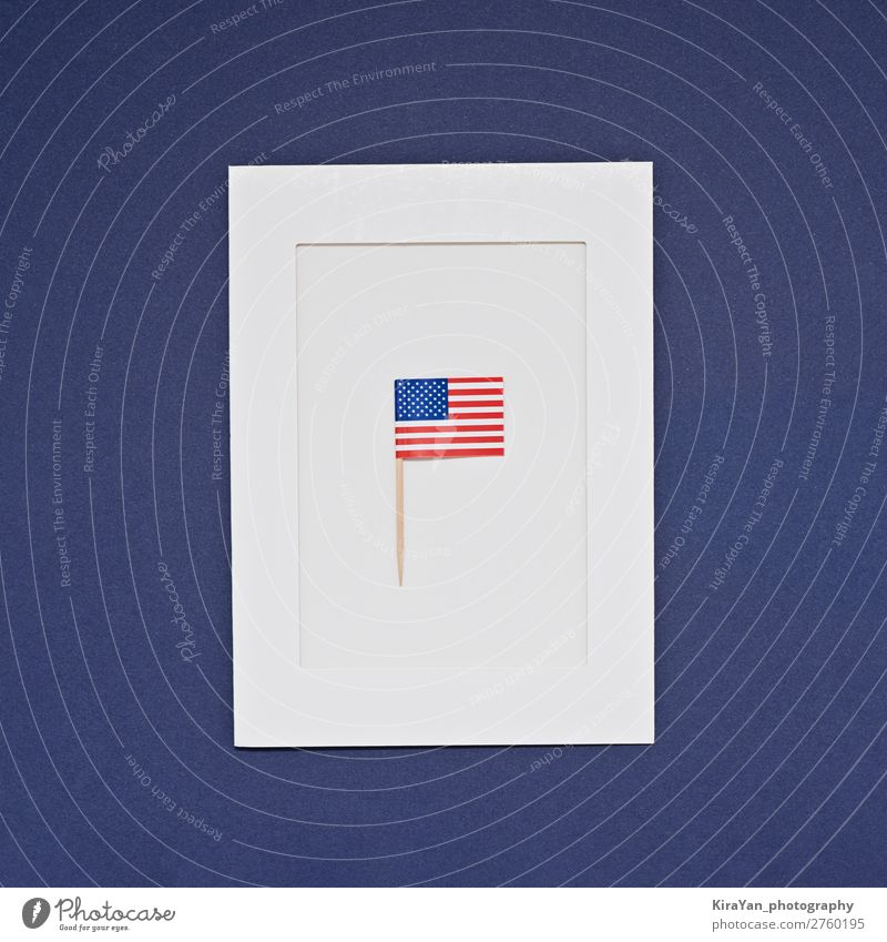 Greeting card for celebration of President's Day in America Happy Money Freedom Feasts & Celebrations Birthday Monument Stripe Flag Blue Honor