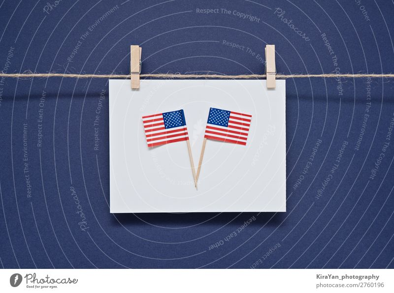 Greeting card for celebration of President's Day in America Happy Money Freedom Feasts & Celebrations Birthday Monument Stripe Flag Hang Blue Honor
