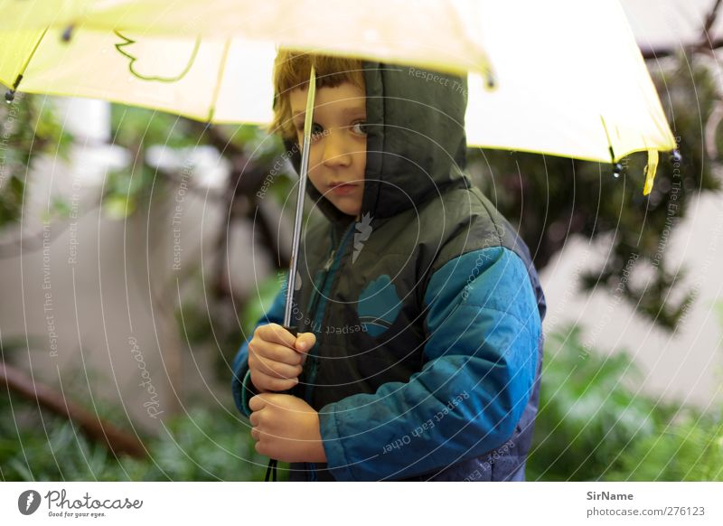 Human being Child Blue Beautiful Winter Yellow Environment Life Autumn Boy (child) Garden Going Rain Weather Climate Infancy