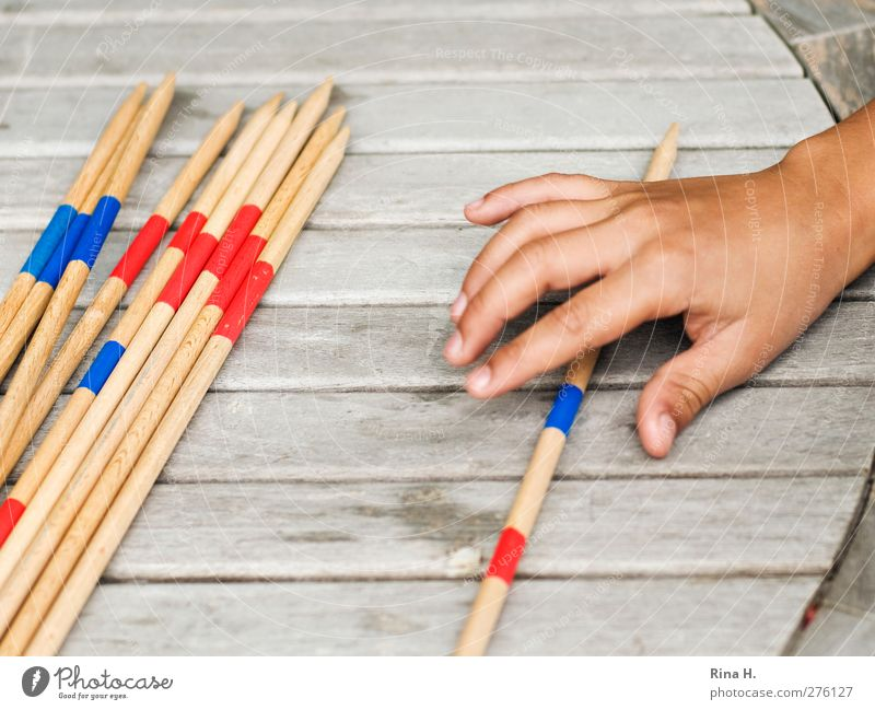 Human being Child Playing Leisure and hobbies Touch Mikado