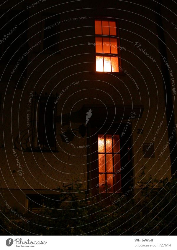 House (Residential Structure) Dark Window Art Sleep Observe Audience Testing & Control Voyeurism Spooky Arts and crafts  Flare Adhere to Witching hour A light in the dark