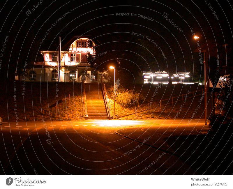 House (Residential Structure) Street Dark Sleep Switzerland Lantern Train station Spooky Witching hour