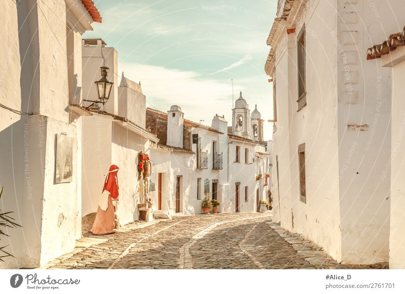 Medieval village Monsaraz in Alentejo Portugal Vacation & Travel Winter Architecture Beautiful weather Europe Village Small Town Deserted