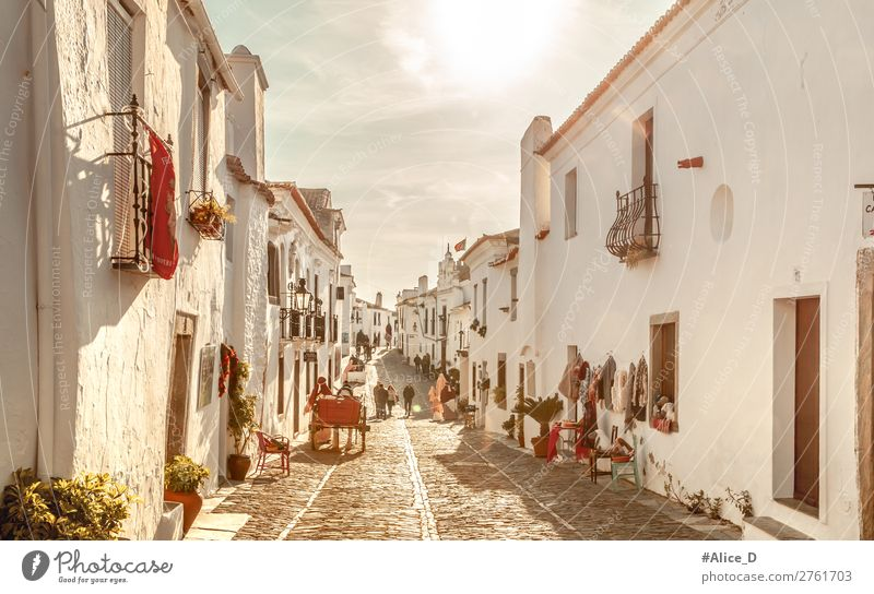 Medieval village Monsaraz in Alentejo Portugal Vacation & Travel Tourism Winter Beautiful weather Europe Village Small Town Old town Populated